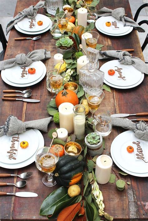 perfect thanksgiving table set   midnight