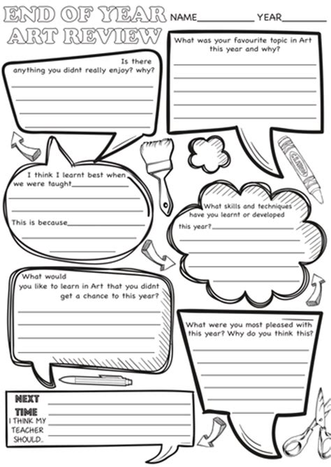 end of year review sheets by rnd86 teaching