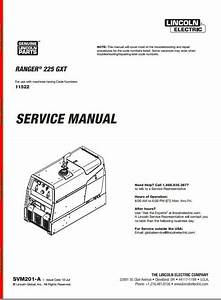 Lincoln Lincoln Ranger 225 Gxt Service Manual 11522