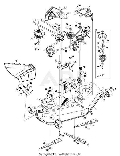 troy bilt arcacq mustang  xp  parts diagram