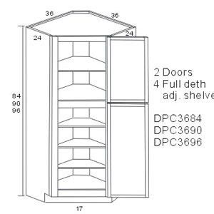 Corner Pantry Cabinet Dimensions by Diagonal Corner Pantry Cabinets Storage Solution