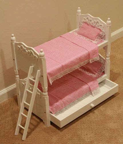 doll bunk beds trundle linens  american girl ebay