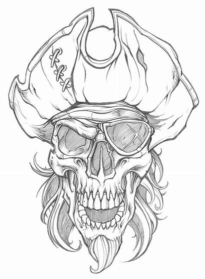 Skull Pirate Tattoos Tattoo Drawings Cool Drawing