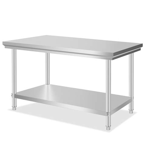 stainless steel commercial kitchen work prep table
