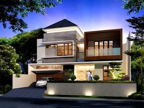 gambar desain rumah tingkat  minimalis modern gambar