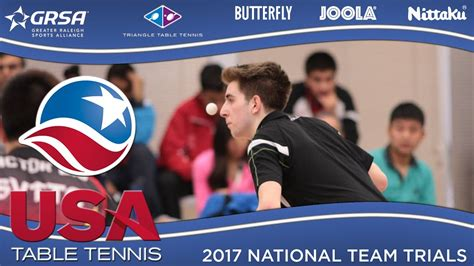 usa table tennis ratings 2017 us national team trials day 1 adar alguetti vs nick