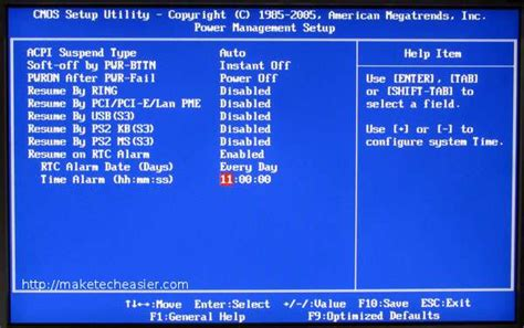 resume on rtc alarm bios how to make your windows 7 system startup and shutdown on