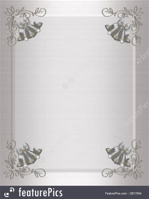 templates wedding invitation silver bells stock