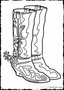 Cowboy Boots and Hats Coloring Pages - Bestofcoloring.com