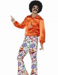 Pantaln Hippie Aos 60 Hombre Disfraces Adultosy