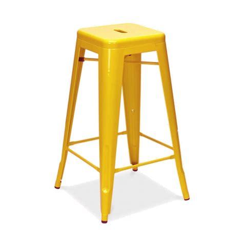 tabouret de bar en metal tabouret de bar en m 233 tal inspiration tolix couleur jaune mobilier magasin de d 233 co et cadeaux