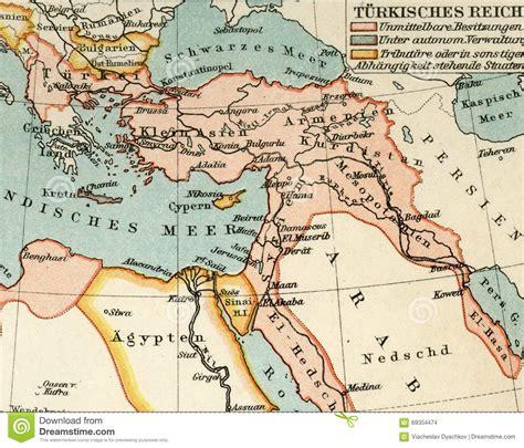 impero ottomano cartina vecchia mappa dall atlante geografico 1890 l impero