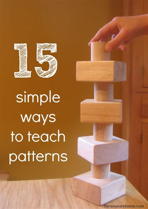 15 simple ways to teach patterns to preschoolers the 902 | simple ways to teach patterns