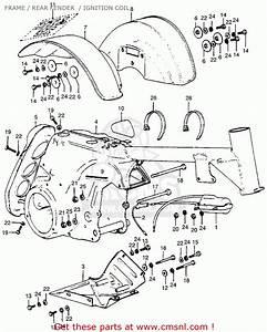 Honda Atc70 1973 Usa Frame    Rear Fender    Ignition Coil