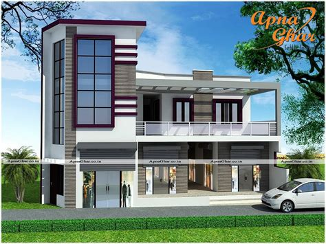 2 floor house commercial cum residential 5 bedroom duplex 2 floors house design along with commercial shops
