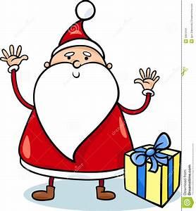 Cute Santa Claus Cartoon Illustration Stock Vector - Image ...