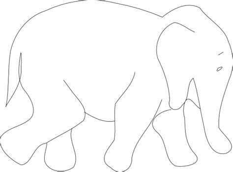 elephant outline clip art  clkercom vector clip art