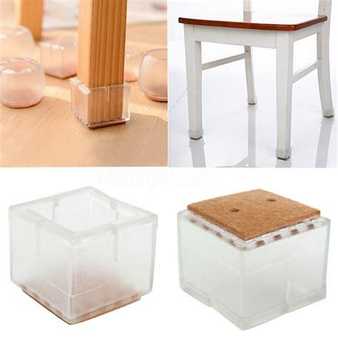 protection pied de chaise 4 8 12x protection pieds de chaise carr 233 table meuble bouchon patin embout ebay