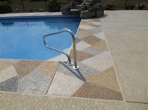 resurfacing pool cool deck building the concrete pool deck sundek concrete