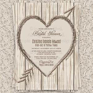bridal shower invitation rustic bridal shower by With rustic wedding shower invitations
