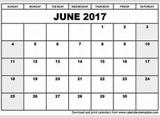 Large Printable June Calendars Print Blank Calendars