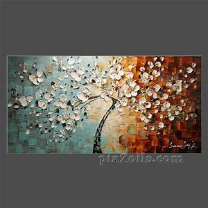 ORIGINAL Large Abstract Contemporary White Cherry Blossom ...