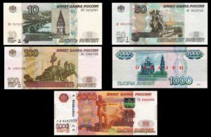russian ruble currency note denominations extravelmoney