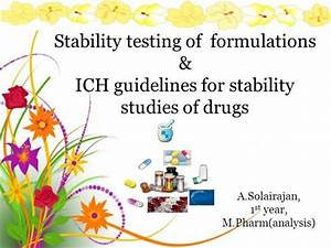 Stability Testing Of Formulations