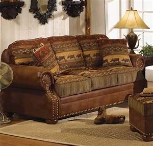 Sofa Amerikanischer Stil : best rustic sofas and couches for the cottage furniture home design ideas ~ Markanthonyermac.com Haus und Dekorationen
