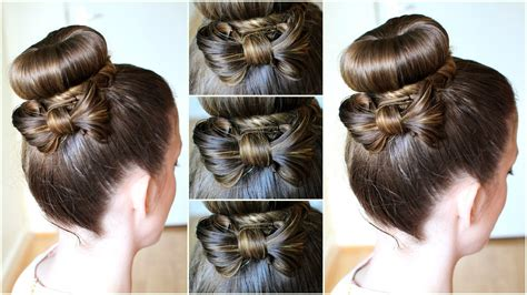 Diy Hair Bow Bun Updo