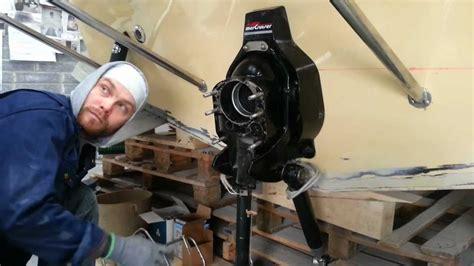 mercruiser bravo  diesel outdrive installation procharter