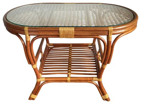 Tiffany lamp yellow hexagon stained glass mission style end coffee table lamps. Rattan Oval Coffee Table Alisa - Tropical - Coffee Tables - by ALIDIA FURNITURE INC