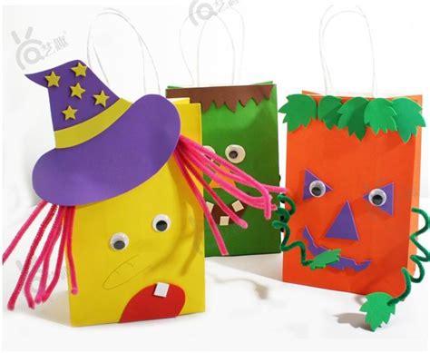 aliexpress buy 4 pcs diy color paper bag 280 | 4 PCs diy Halloween color paper bag for Kids Child sticker toys children handmade Kindergarten craft