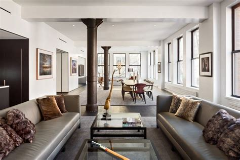 New York Apartment by Sophisticated Masculine Loft Apartment In Soho New York City