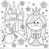 Coloring Castle Princess Snowman Vector Ice Illustration Clip Culture Entertainment Arts Royalty Illustrations Beauty Istockphoto Similar sketch template