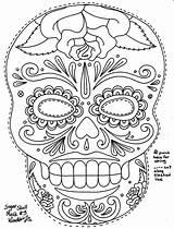 Skull Sugar Coloring Pages Mask Masks Roses Wenchkin Printable Dead Skulls Template Muertos Dia Los Candy Halloween Colouring Colour Calavera sketch template