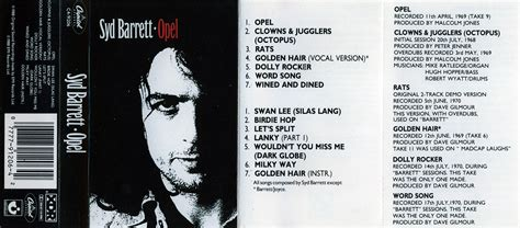 Syd Barrett Opel by Pink Floyd Archives U S Syd Barrett Cassette Discography