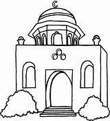 Moschea Colorare Islam Disegni Scaricato sketch template