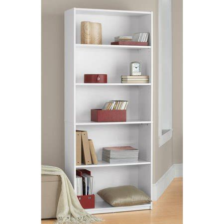 walmart bookshelf white 5 shelf bookcase white walmart