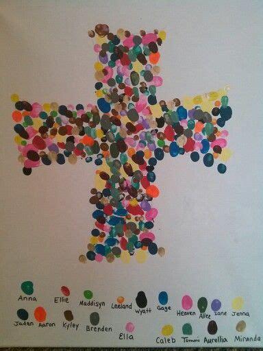 fingerprint cross   childrens church   pastor
