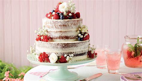vanilla cake  fresh fruit  flowers recipe betty