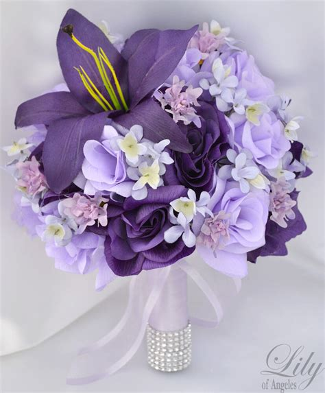 piece package wedding bridal bouquet silk flower