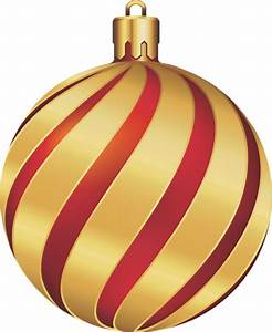 Large Transparent Christmas Gold and Red Ornament ...