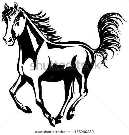 mustang horse silhouette mustang horse stock images royalty free images vectors