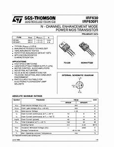 Irf630 Service Manual Download  Schematics  Eeprom  Repair