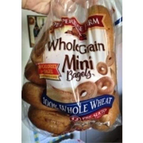 pepperidge farm mini bagels  grain   wheat