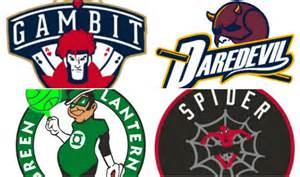 Redesigned Logos NBA as Super Heroes
