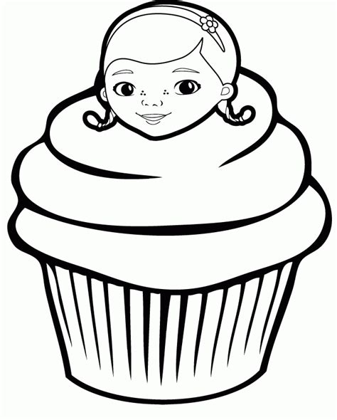 Hello Kleurplaat Cupcakes by Cupcake Coloring Page Coloring Home