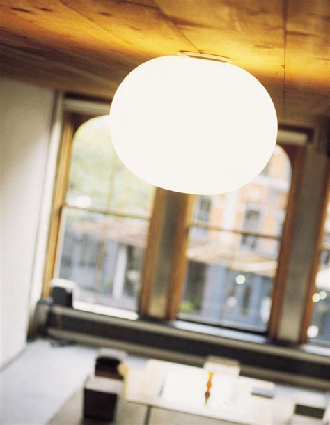 mini glo wall light ceiling light white by flos