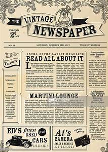create your own newspaper template - peri dico retro dise o plantilla de dise o arte vectorial